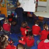 Na sala de aula.