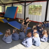 Physical education class.